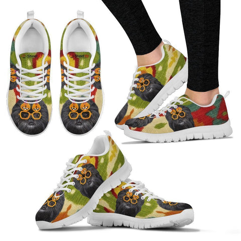 Affenpinscher Halloween Print Running Shoes For Women-Free Shipping-Paww-Printz-Merchandise