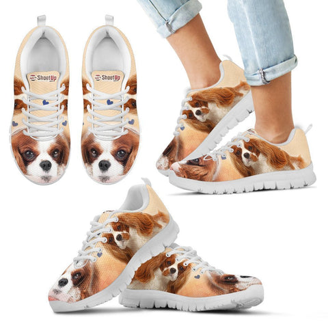 Lovely Cavalier King Charles Spaniel Print Running Shoes For Kids- Free Shipping-Paww-Printz-Merchandise