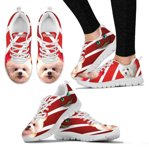 Bichon Frise Halloween Print Running Shoes For Women- Free Shipping-Paww-Printz-Merchandise
