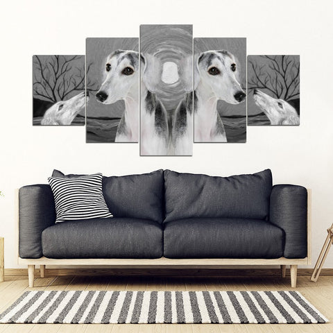 Saluki Dog Print-5 Piece Framed Canvas- Free Shipping-Paww-Printz-Merchandise