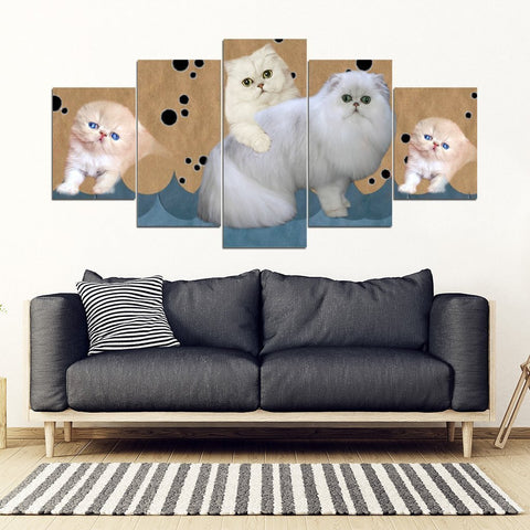 Persian Cat2 Print-5 Piece Framed Canvas- Free Shipping-Paww-Printz-Merchandise