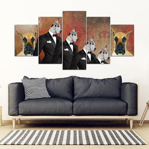 Great Dane Print-5 Piece Framed Canvas- Free Shipping-Paww-Printz-Merchandise