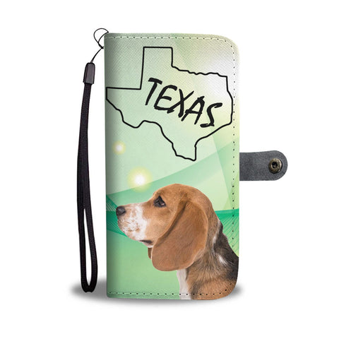Beagle Butterfly Print Wallet Case-Free Shipping-TX State