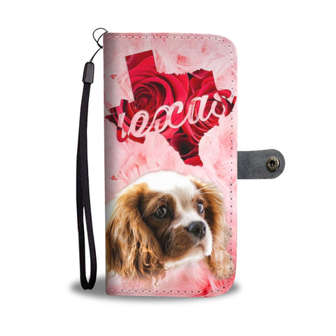 Cavalier King Charles Spaniel Print Wallet Case- Free Shipping-TX State