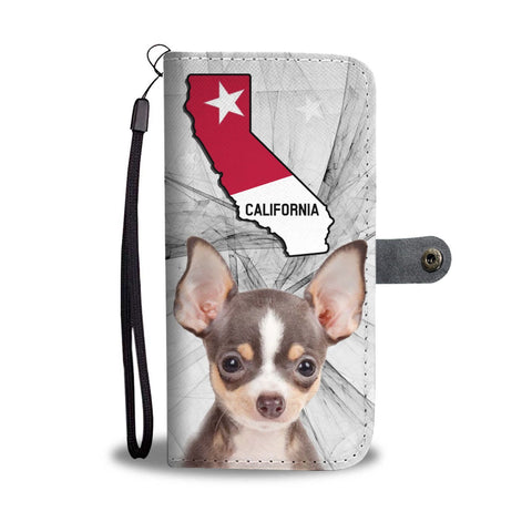 Chihuahua Dog Print Wallet Case-Free Shipping-CA State