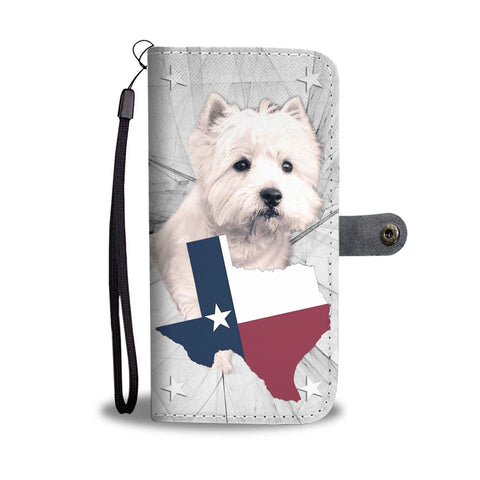 West Highland White Terrier Print Wallet Case-Free Shipping-TX State