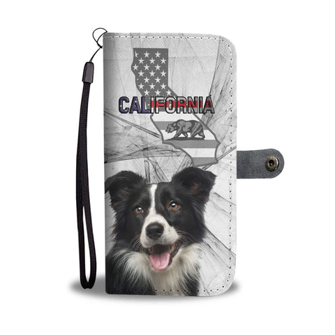 Border Collie Print Wallet Case-Free Shipping-CA State