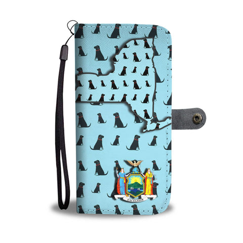Labrador Dog Pattern Print Wallet Case-Free Shipping-NY State