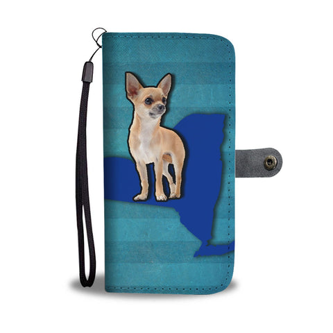 Chihuahua Dog Print Wallet Case-Free Shipping-NY State