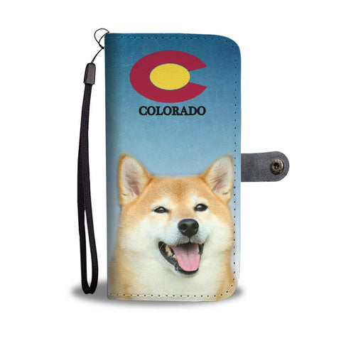 Shiba Inu Print Wallet Case-Free Shipping-CO State