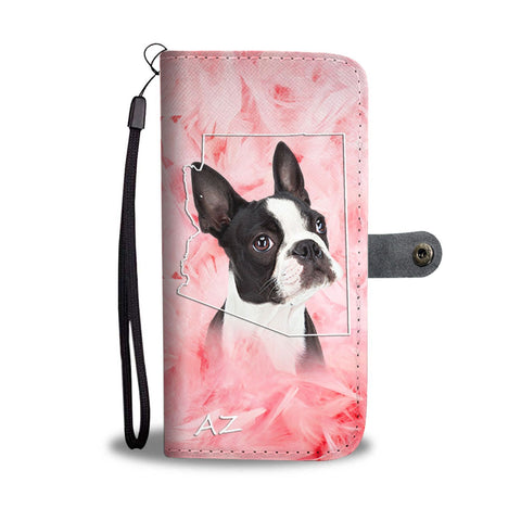Lovely Boston Terrier Print Wallet Case- Free Shipping- AZ State