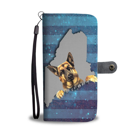 German Shepherd Dog Print Wallet Case-Free Shipping-ME State