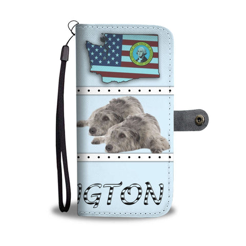 Irish Wolfhound Print Wallet Case-Free Shipping-WA State