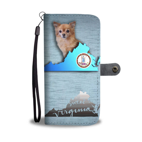 Chihuahua Dog Print Wallet Case-Free Shipping-VA State
