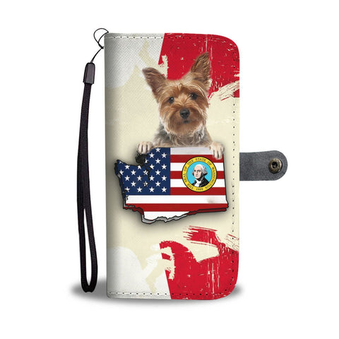 Yorkshire Terrier (Yorkie) Print Wallet Case-Free Shipping-WA State