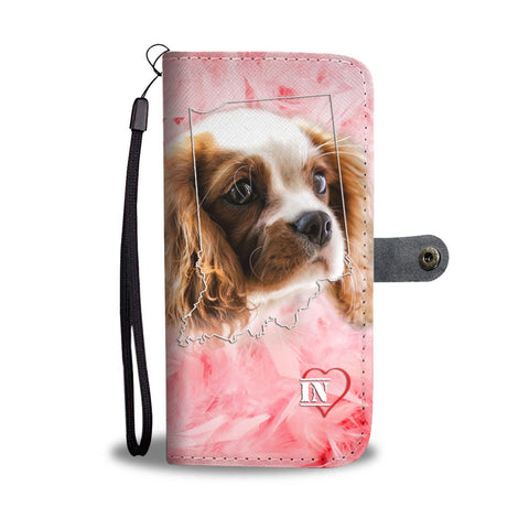 Cavalier King Charles Spaniel Print Wallet Case-Free Shipping-IN State