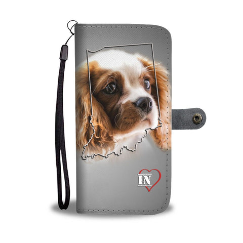 Cute Cavalier King Charles Spaniel Print Wallet Case-Free Shipping-IN State