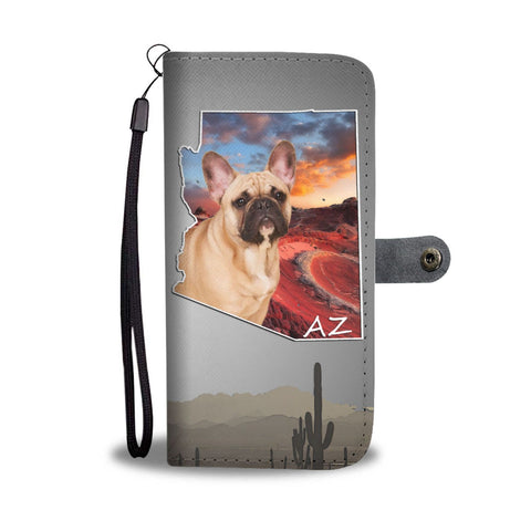 Lovely French Bulldog Print Wallet Case-Free Shipping- AZ State