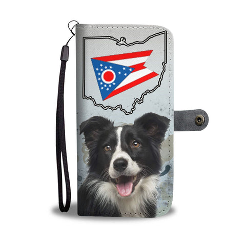 Border Collie Print Wallet Case-Free Shipping-OH State