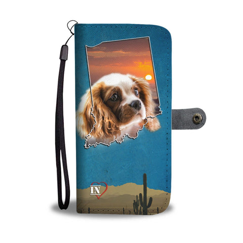 Lovely Cavalier King Charles Spaniel Print Wallet Case-Free Shipping-IN State