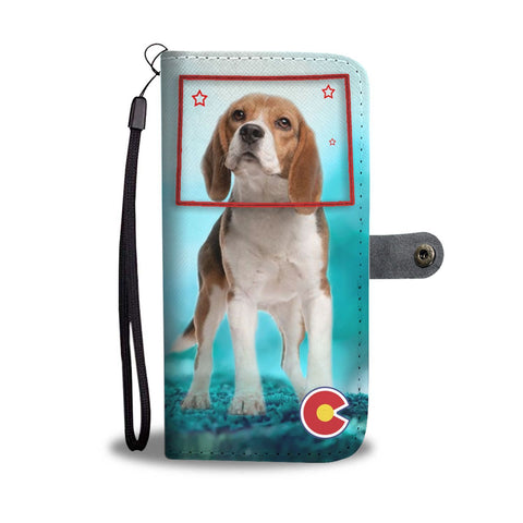 Beagle Print Wallet Case-Free Shipping-CO State