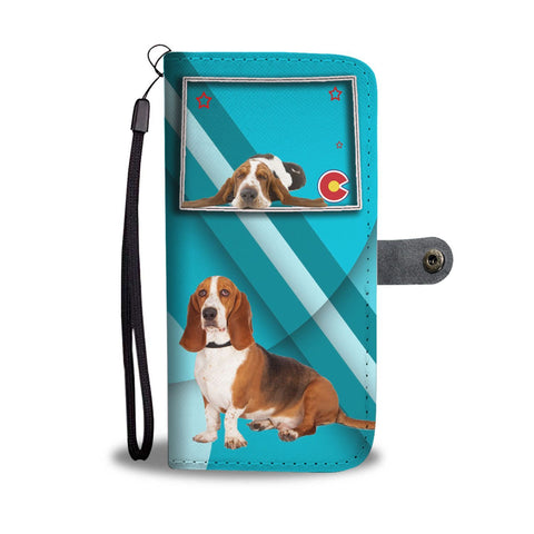 Basset Hound Print Wallet Case-Free Shipping-CO State