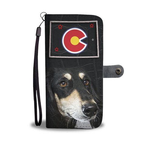 Saluki Dog Print Wallet Case-Free Shipping-CO State