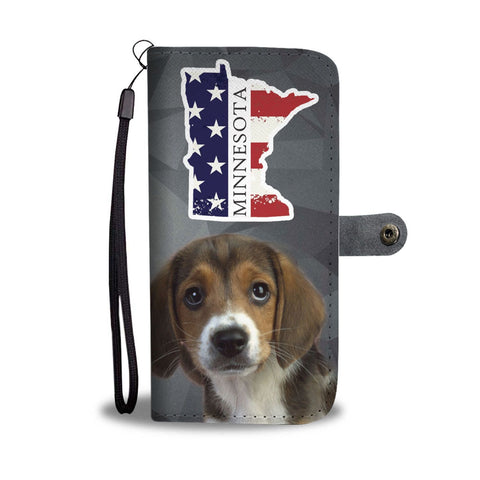 Beagle Print Wallet Case-Free Shipping-MN State