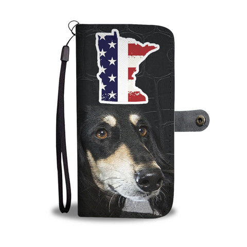 Saluki Dog Print Wallet Case-Free Shipping-MN State