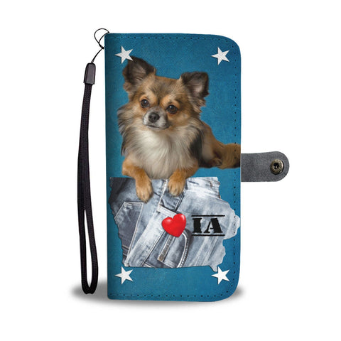 Cute Chihuahua Print Wallet Case-Free Shipping-IA State