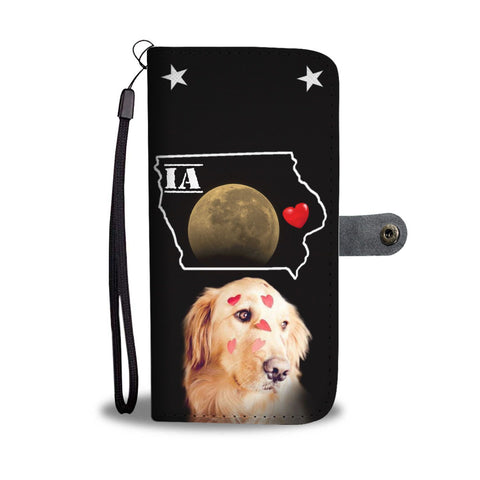 Golden Retriever Print Wallet Case- Free Shipping-IA States