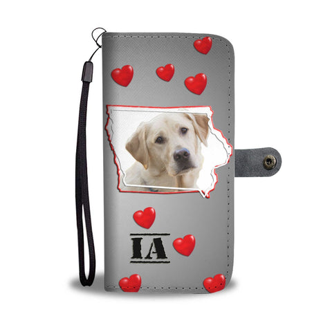 Lovely Labrador Retriever Print Wallet Case- Free Shipping-IA State