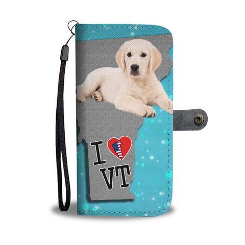 Golden Retriever Puppy Print Wallet Case-Free Shipping-VT State