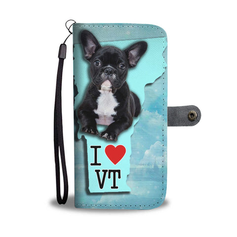 French Bulldog Print Wallet Case-Free Shipping-VT State