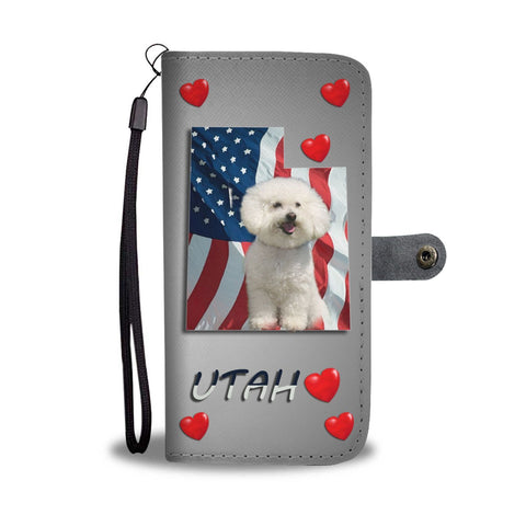Lovely Bichon Frise Print Wallet Case-Free Shipping-UT State