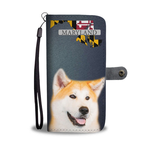 Akita Dog Print Wallet Case-Free Shipping-MD State