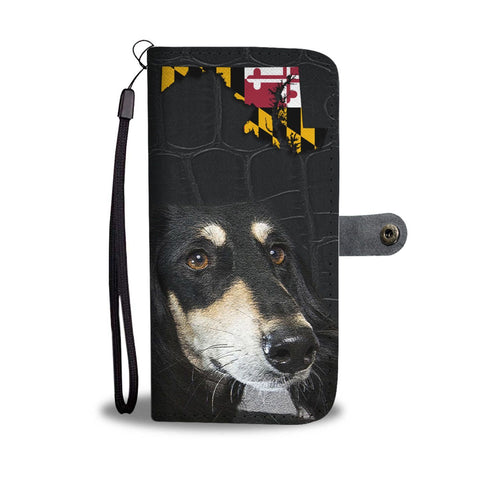 Saluki Dog Print Wallet Case-Free Shipping-MD State
