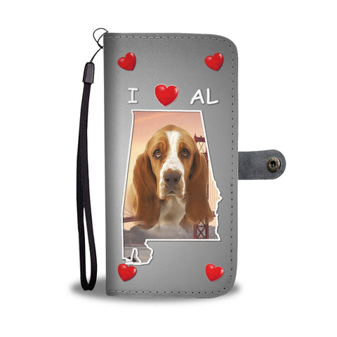 Lovely Basset Hound Print Wallet Case-Free Shipping-AL State