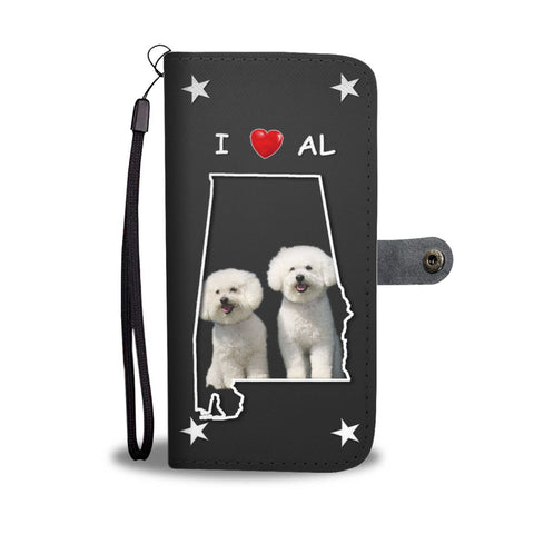 Bichon Frise On Black Print Wallet Case-Free Shipping-AL State