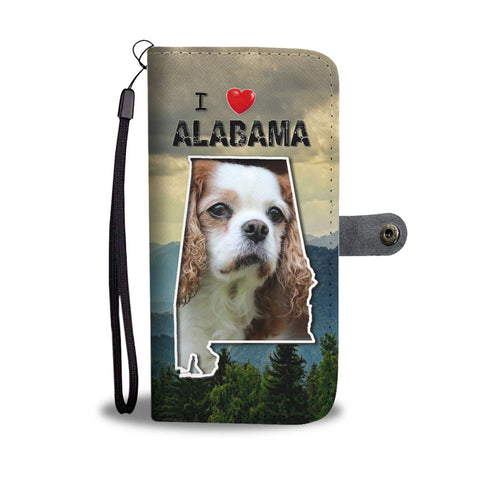Cavalier King Charles Spaniel Print Wallet Case- Free Shipping-AL State