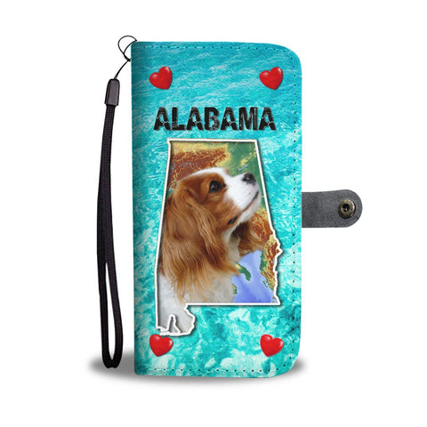 Cute Cavalier King Charles Spaniel Print Wallet Case- Free Shipping-AL State