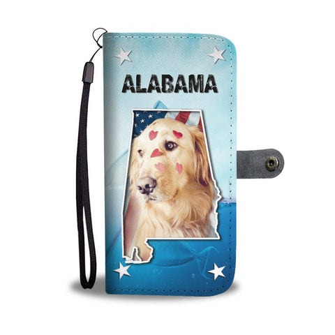 Cute Golden Retriever Print Wallet Case-Free Shipping-AL State