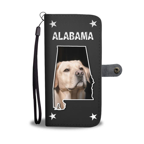 Labrador Retriever On Black Print Wallet Case-Free Shipping-AL State