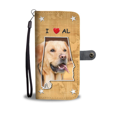 Labrador Retriever Print Wallet Case-Free Shipping-AL State