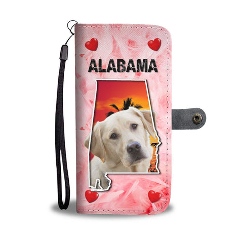 Labrador Retriever On Pink Print Wallet Case-Free Shipping-AL State