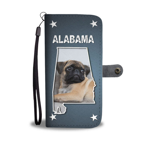 Pug Dog Print Wallet Case-Free Shipping-AL State
