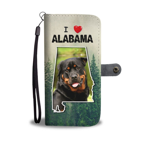 Cute Rottweiler Dog Print Wallet Case-Free Shipping-AL States