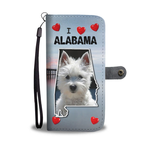 West Highland White Terrier Print Wallet Case-Free Shipping-AL State