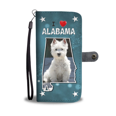 Cute West Highland White Terrier Print Wallet Case-Free Shipping-AL State