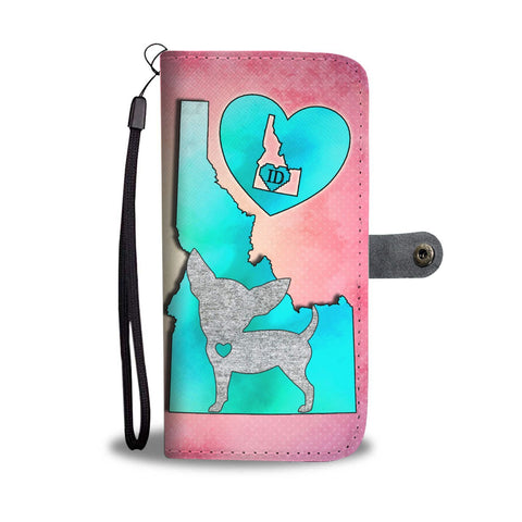 Chihuahua Dog Art Print Wallet Case-Free Shipping-ID State